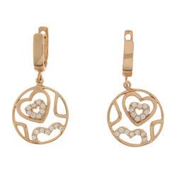 Zilveren Oorbellen Rose Goud Verguld Hart 270506 MY iMenso