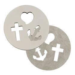 Zilveren Fantasie Insignia Geloof Hoop En Liefde 330641