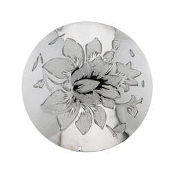 Zilveren Cover Gegraveerde Bloem 330471