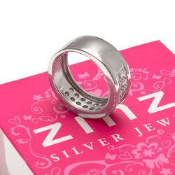 Zilveren ring met zirkonia binnenrand ZIR692 zinzi