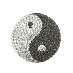 Zilveren Spherique Munt Yin En Yang 33mm. 330596 MY iMenso