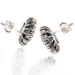 blauwe oorbellen zilver met topaas