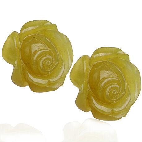 zilveren oorstekers serpetijn roosjes