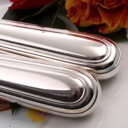 Voorsijcouvert zilver heft model dubbelrondfilet