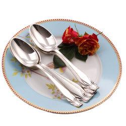 6 Zilveren dessertlepels Art Deco