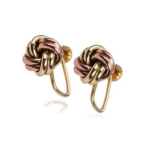 Gouden oorbellen met schroef