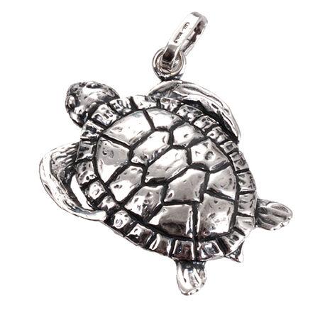 Zilveren hanger schildpad