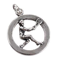 Zilveren hanger tennis Raspini