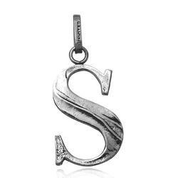 Zilveren letter S hanger raspini