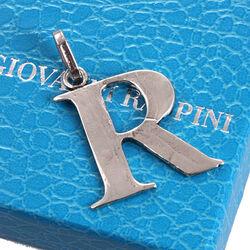 Zilveren letter R hanger Raspini