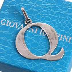 Zilveren letter Q hanger Raspini