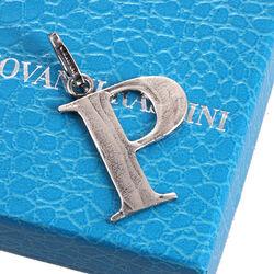 Zilveren letter P hanger Raspini