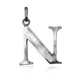 Zilveren letter N hanger Raspini