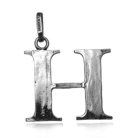 Zilveren letter H hanger Raspini
