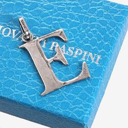 Zilveren letter E hanger raspini