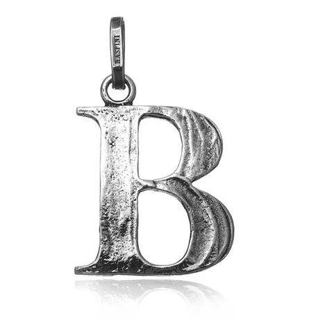 Zilveren letter B hanger Raspini