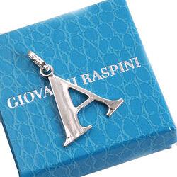 Zilveren letter A hanger raspini