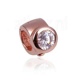 Side Click On Charms Rond Zirkonia