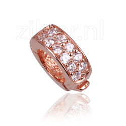 Side Click On charms zirkonia roseverguld