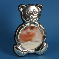 Zilveren kinder fotolijstje met beertje van Carrs