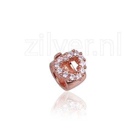 Side Click On Charms Hart Zirkonia