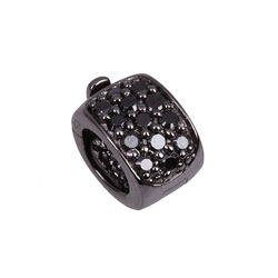 Side Click On Charms Zirkonia Black Rhodium