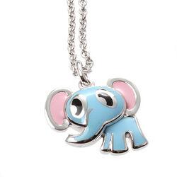 zilveren kinderketting met olifantje