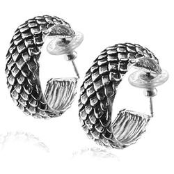 Raspini Steekcreolen Slangenpatroon