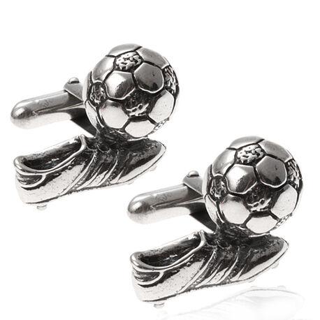 Zilver manchetknopen voetbal Raspini