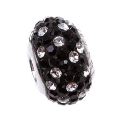Imenso Zilveren Bead Wit Zwart