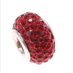 Imenso Zilveren Bead Rood