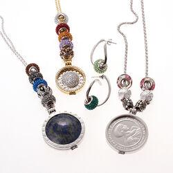 Zilver bead lichtbruin Swarovski iMenso