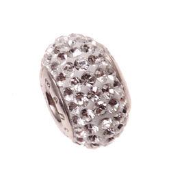 Zilver bead wit Swarovski iMenso
