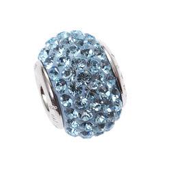 Zilver bead blauw Swarovski iMenso