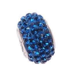 jeansblauw swarovski bead iMenso