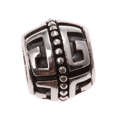 Imenso Zilveren Bead Meander Rand