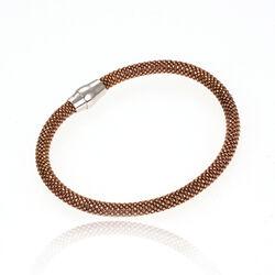 Bruin Zilveren Magneetarmband
