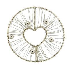 zilver cover hart met draadjes MY iMenso 33-0664