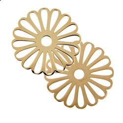 Zilveren Cover Rose Verguld Open Bloem 330653