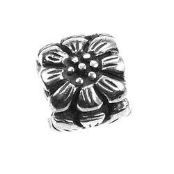 iMenso bead bloem zilver