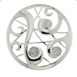 Zilveren bolle Spherique munt 330689