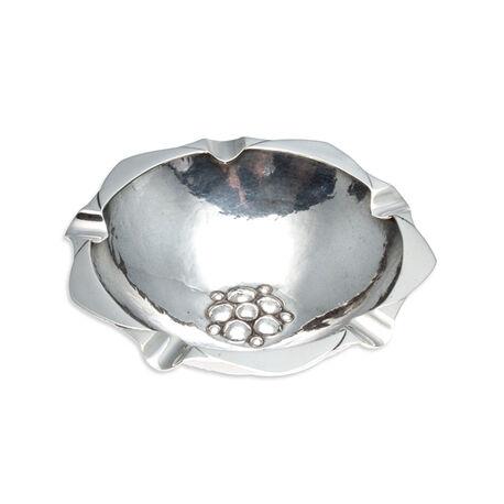 Zilveren asbak art deco