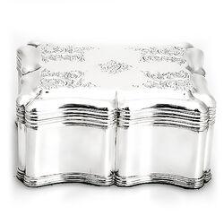 Zilveren koektrommel Biedermeier