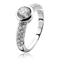 Zilveren ring met zirkonia ZIR840 zinzi