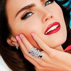 Zilveren ring met blauw zirkonia zir840b zinzi
