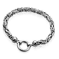 Zilver armband zia836 Zinzi koningsschakel
