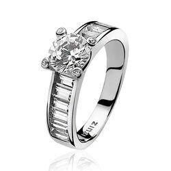 Zilver ring met zirkonia Zinzi zir775