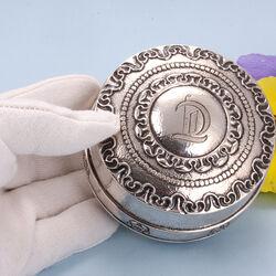 Zilveren dekseldoosje Schoonhoven 1919