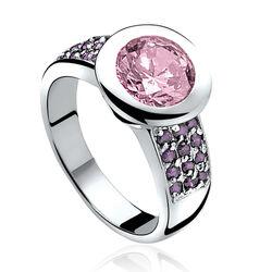 Zinzi Ring Paars Roze Zirkonia Zir841r