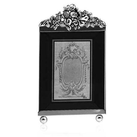 Zilveren fotolijst met geslepen glas